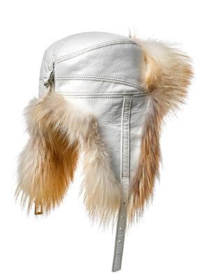 Меховая шапка ушанка из лисы