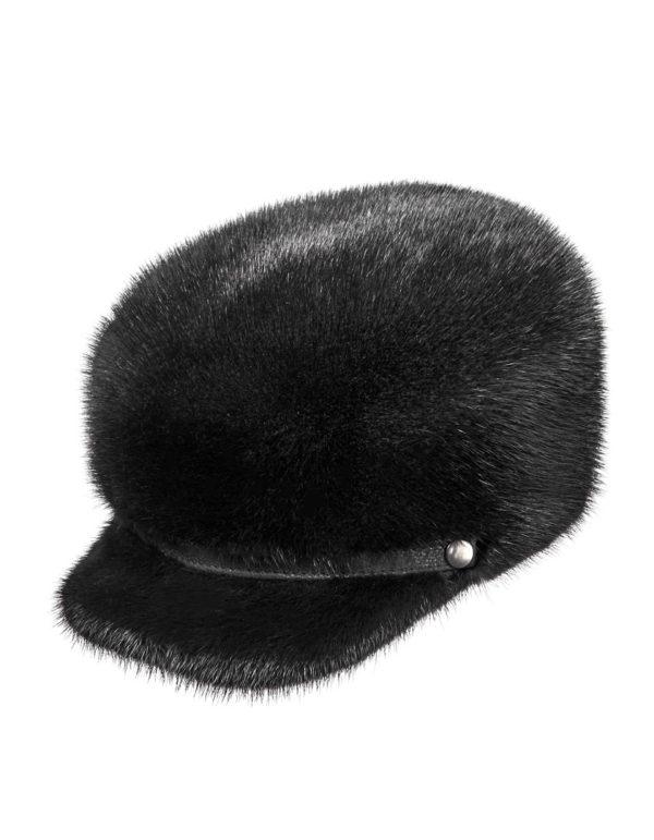 Мужская шапка из меха норки