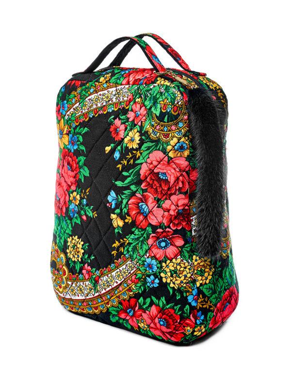 Рюкзак из павловопосадской шали