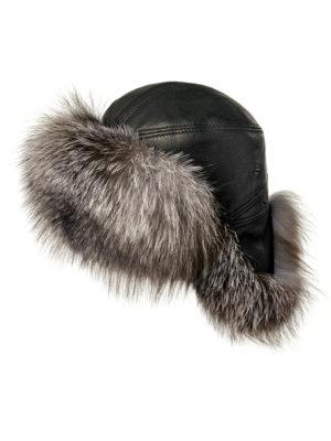 Мужская шапка из меха лисы