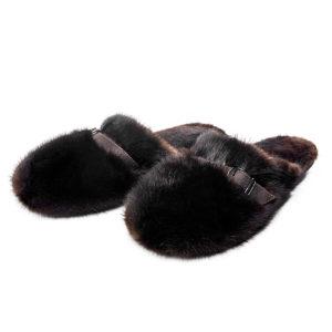 Тапочки мужские из меха норки