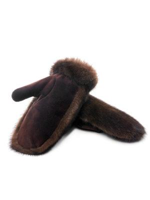 Варежки из меха норки