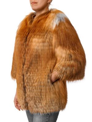 Меховой жакет из рыжей лисы