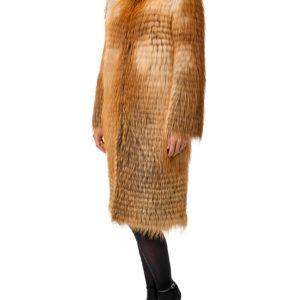 Меховое пальто на трикотаже