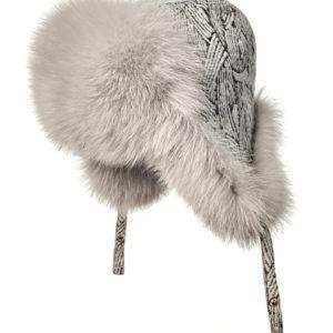 Меховая шапка ушанка из меха лисы