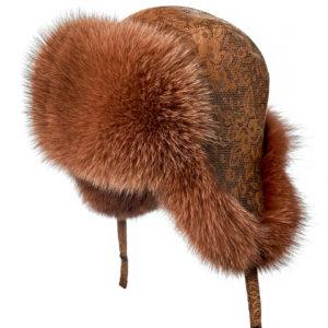 Меховая шапка ушанка из песца