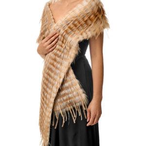 Меховой шарф из лисы