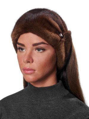 Норковая меховая повязка на голову