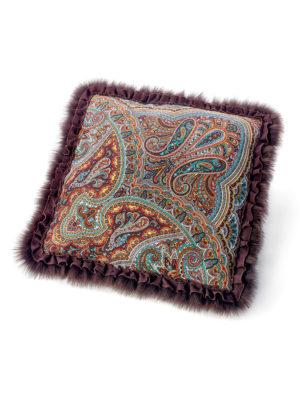 Подушка с мехом песца