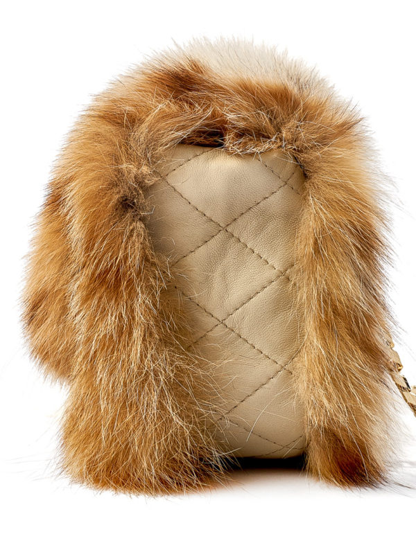 Меховая сумка из рыси