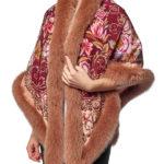 Павловопосадский платок с мехом песца