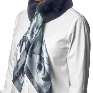 Шейные шарфики из меха кролика