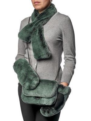 Сумка, варежки и шарф (комплект)