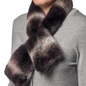 Шейный шарфик из меха кролика