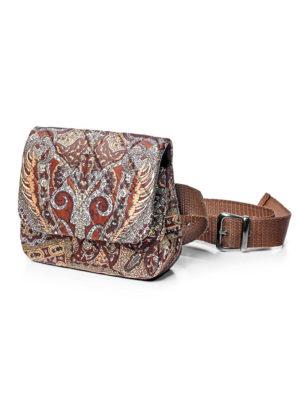 Поясная сумка из павловопосадской ткани
