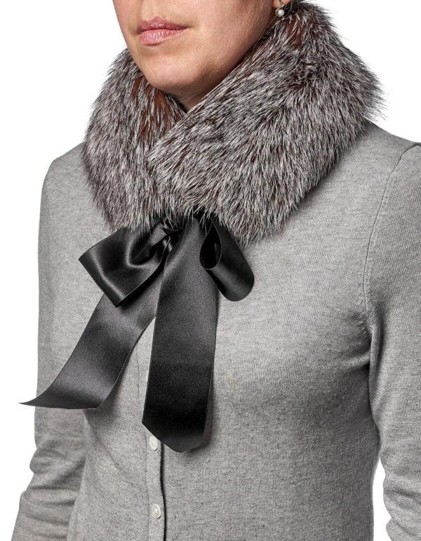 Шейный шарфик из меха лисы
