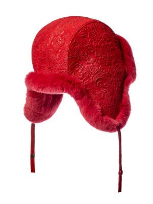 Женская меховая шапка ушанка