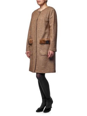пальто с мехом норки
