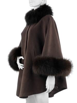 Пальто с мехом (Пончо с мехом)